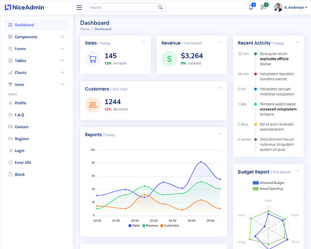 Nice Admin -Free bootstrap admin HTML template