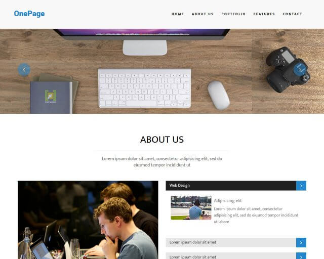 OnePage - Multipurpose Bootstrap Template