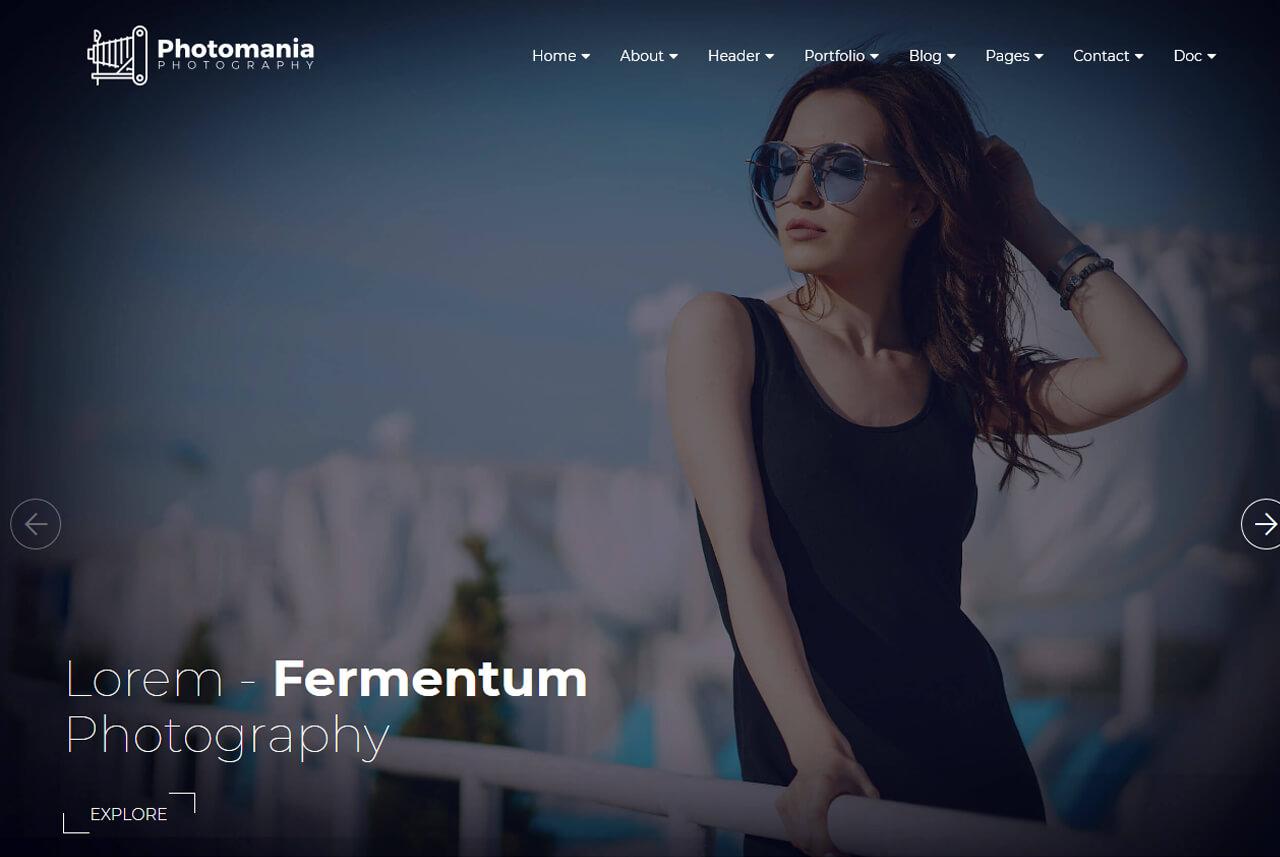 Photomania Website Template