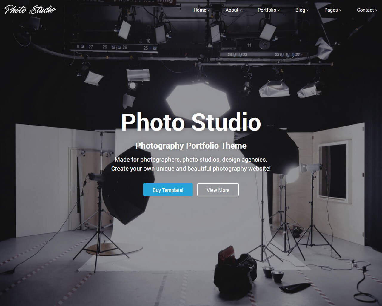 Photo Studio Website Template