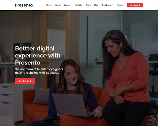 Presento – Bootstrap Business Template