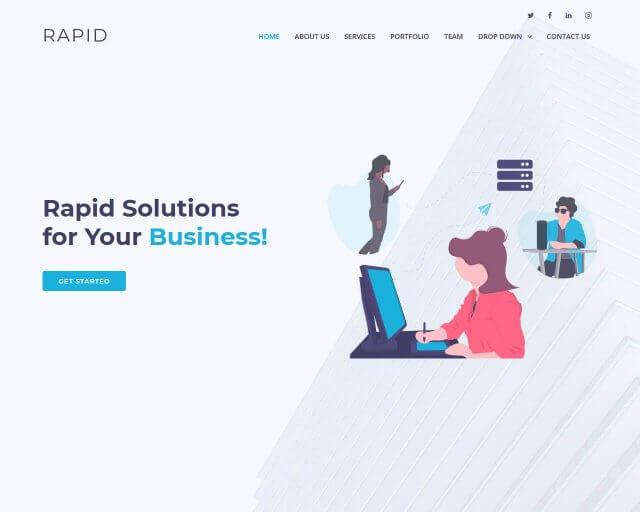 Rapid - Free Multipurpose Bootstrap Template