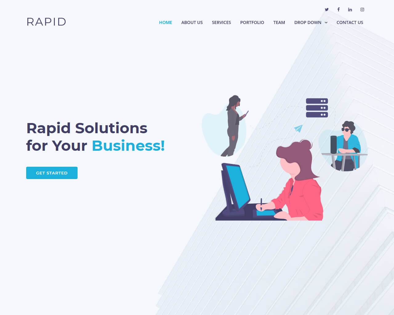 Rapid - Free Multipurpose Bootstrap Template