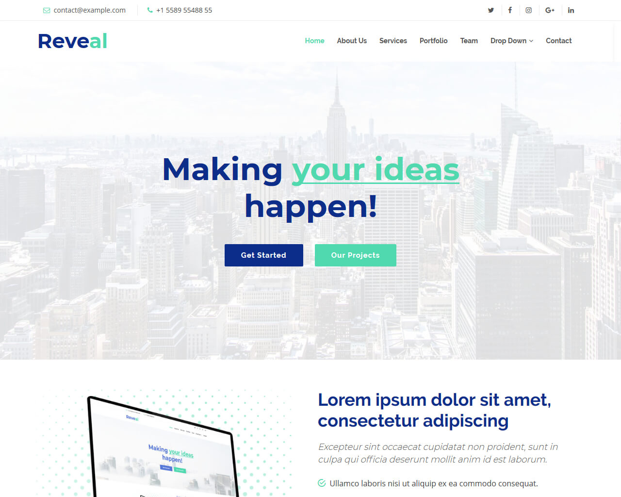 Reveal – Free Bootstrap Template | BootstrapTaste