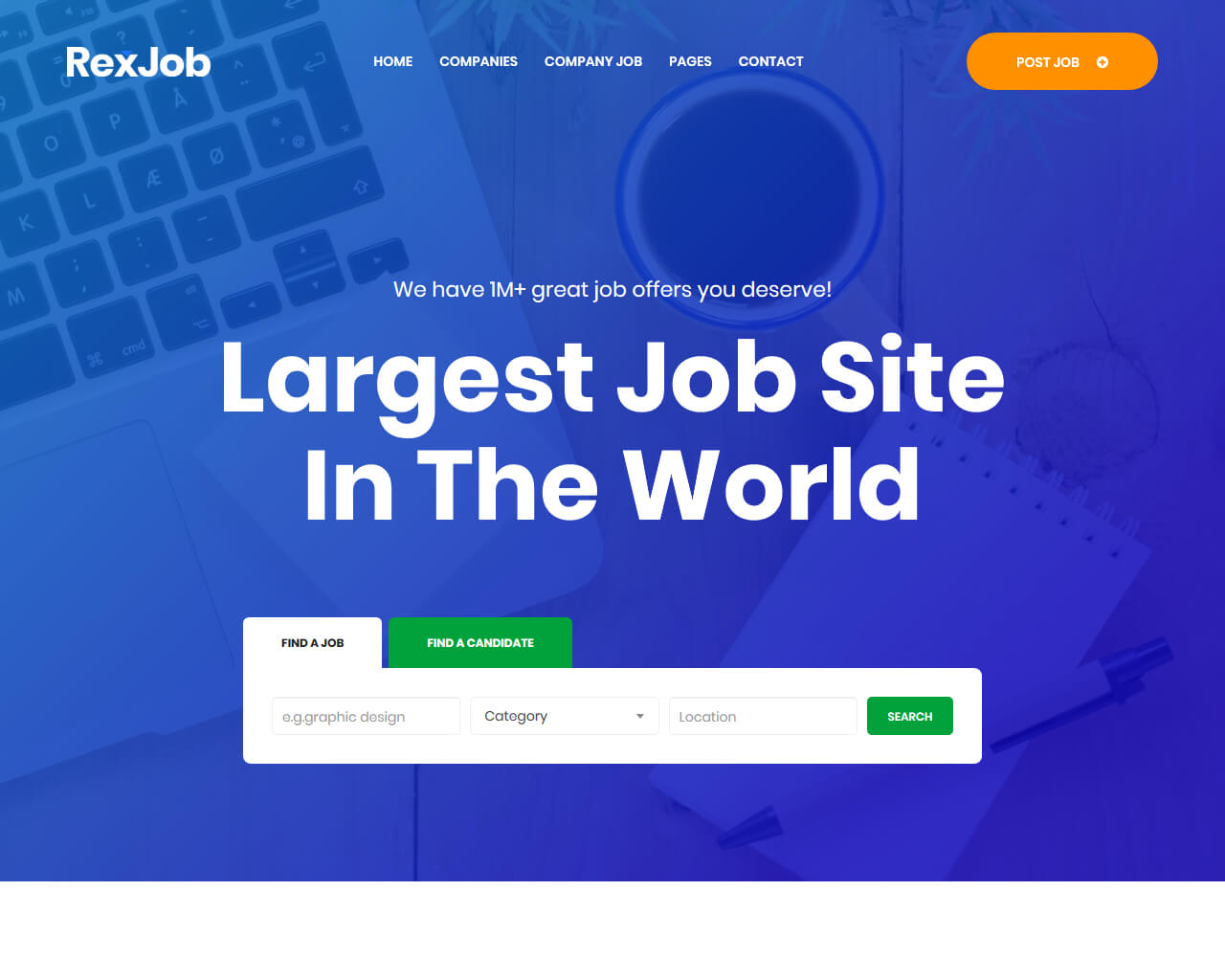 Rexjob - Job Portal, Directory Website Template