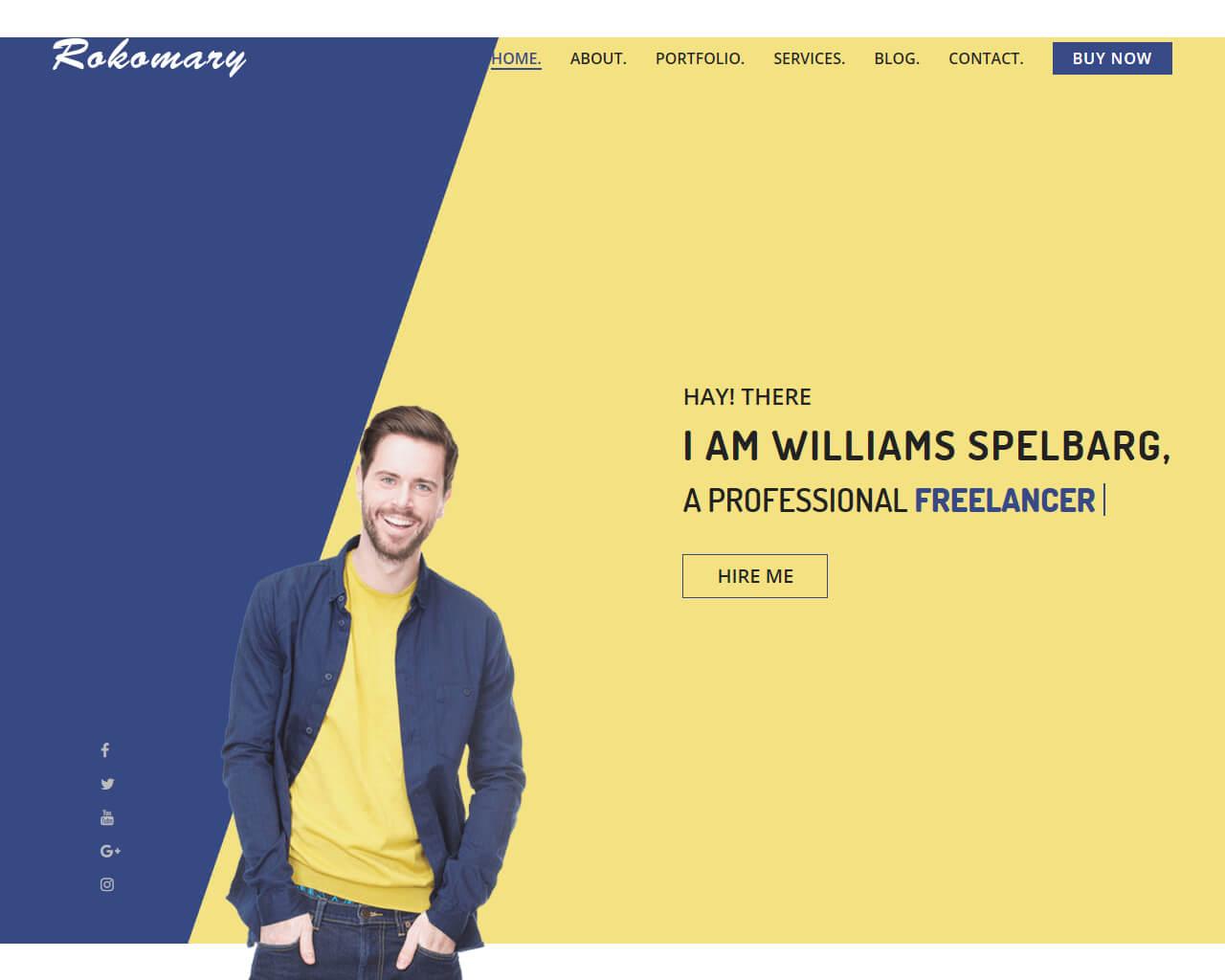Rokomary Website Template