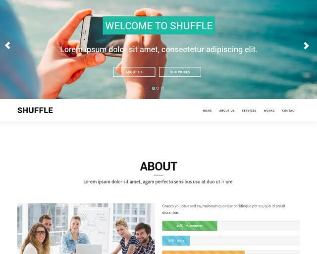 Bootstrap 3 one page template for free - Shuffle