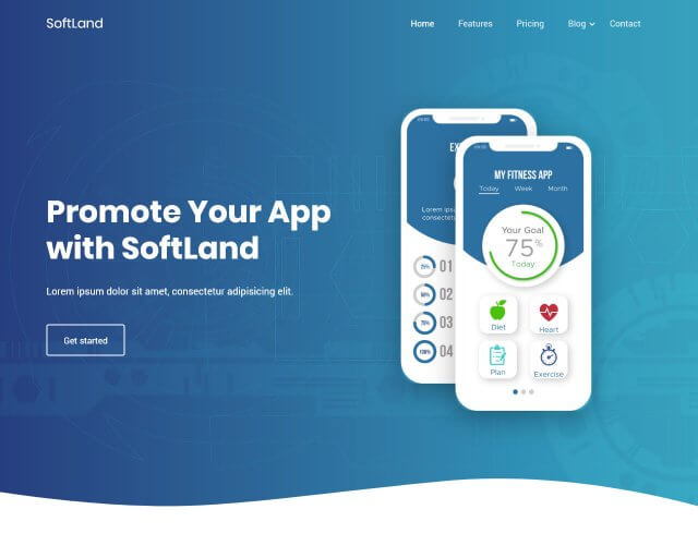 SoftLand – Free Bootstrap Landing Page Template