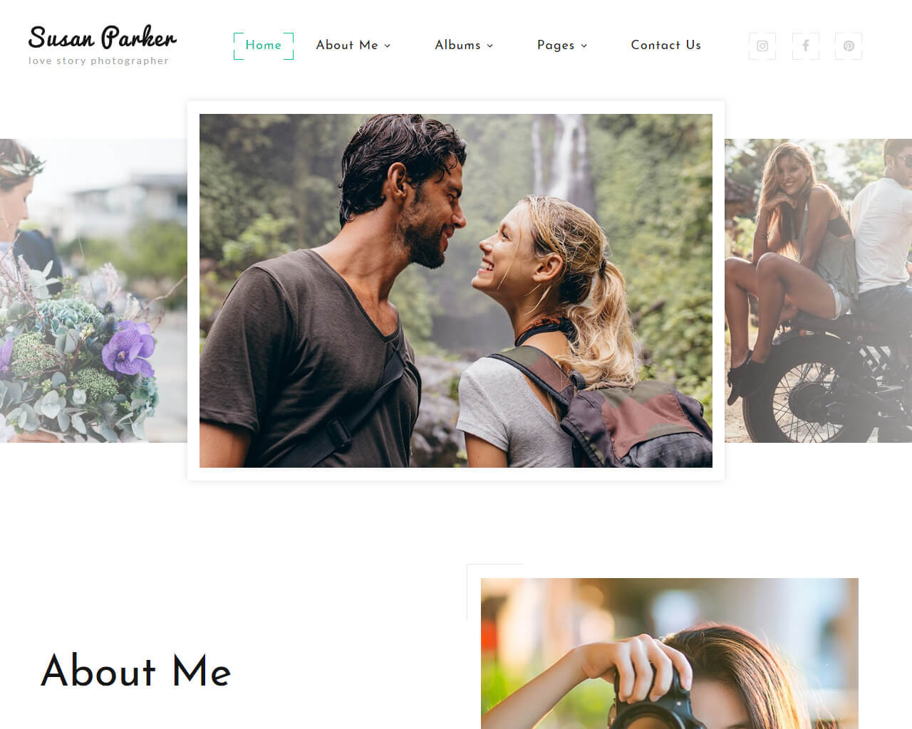 Susan Parker Website Template