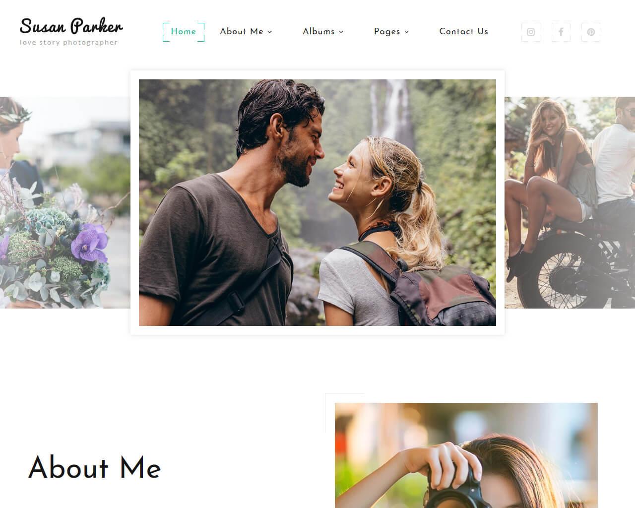 Susan Parker Website Template