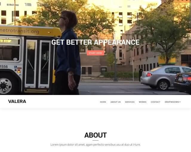 Valera – Free Bootstrap Theme