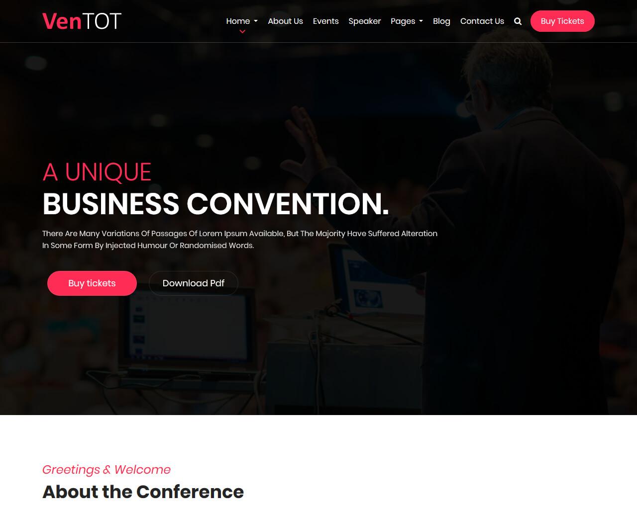 VenToT Website Template