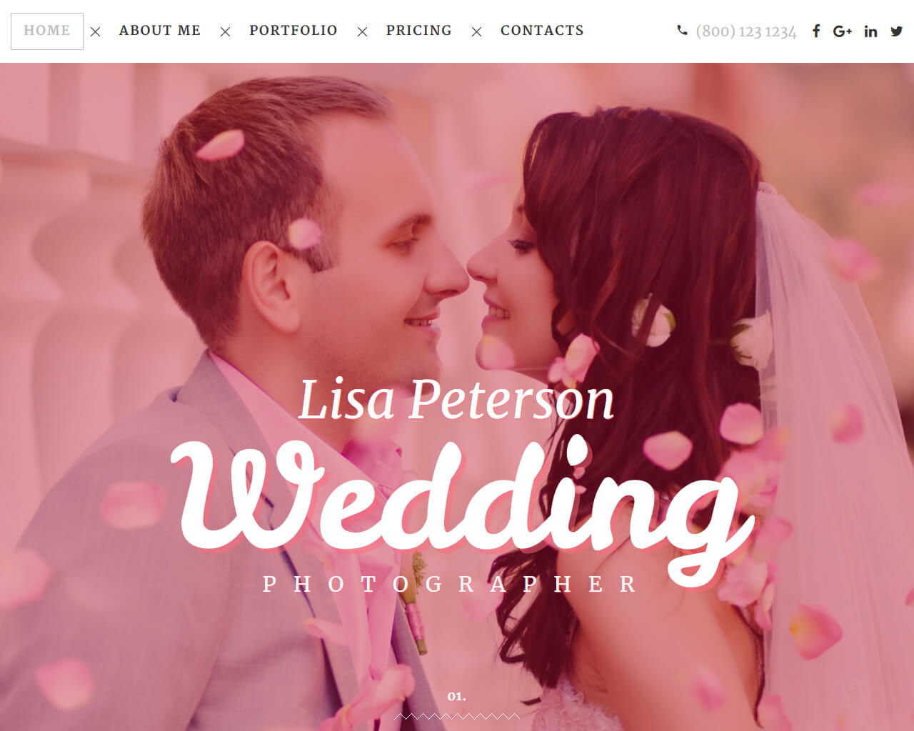 Lisa Peterson Website Template